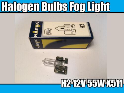 Spotlight 2x NARVA 48420 H2 12V 55W X511 Halogen Bulbs Fog Light