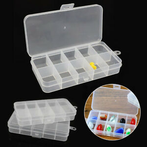 image is loading 3pcs-10-compartment-small-organizer-storage-plastic-box-