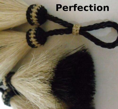 horse hair tassel X-thick double layer tassel White//black Horsehair tassel