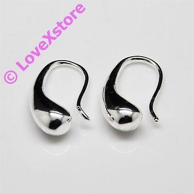 925 Sterling Silver Plated Simple Hook Earring Dangle Earrings Free Shipping e