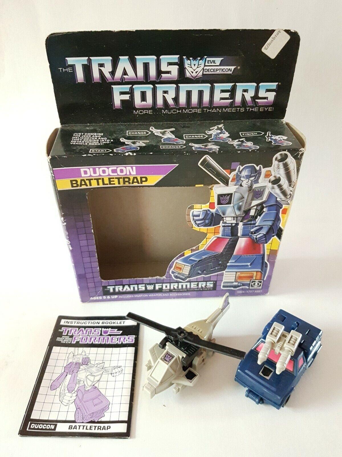 Vintage g1 Transformers Duocon Battletrap 1986 Hasbro boxed + instructions 1986