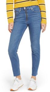 Details about Tommy Hilfiger Denim Custom High Rise Slim Izzy Two Tone Retro Jeans WAIST 28