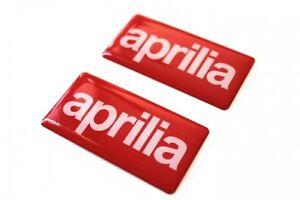 2x aprilia gel aufkleber sticker emblem set f r auto. Black Bedroom Furniture Sets. Home Design Ideas