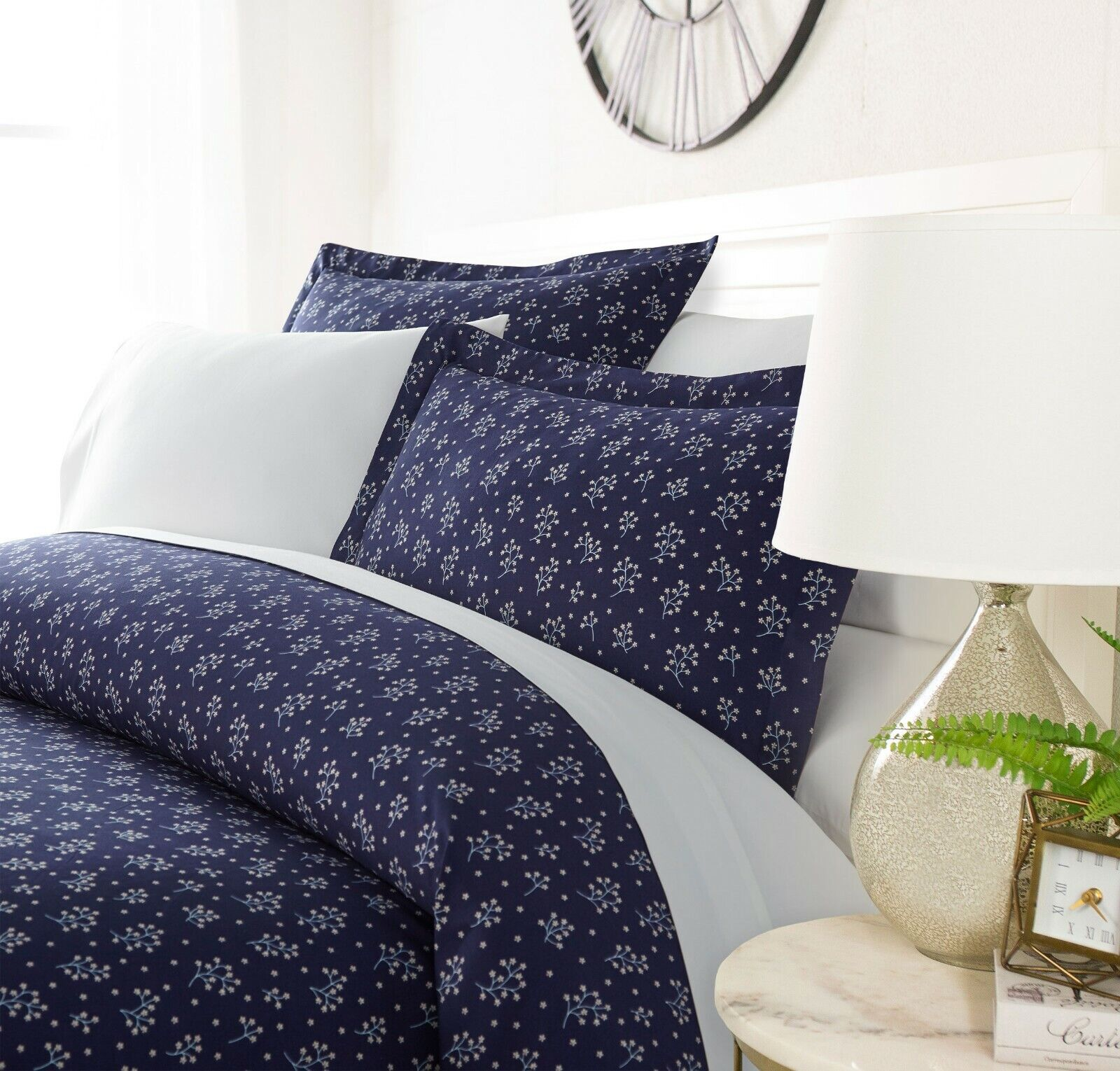 Luxury Ultra Soft Evening Blooms Duvet Cover Set By Sharon Osbourne Home
