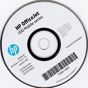 Details about CLONE - HP Printer CD Driver Software Disc for OfficeJet 200  Mobile Series