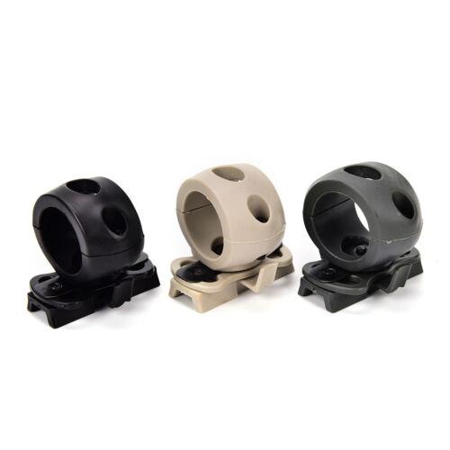 Tactical Helmet Flashlight Mount Clip Military Airsoft Flashlight.Clamp Adaptor^