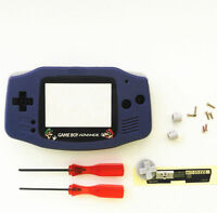 Gba Nintendo Game Boy Advance Replacement Housing Shell Screen Lens Indigo Mario