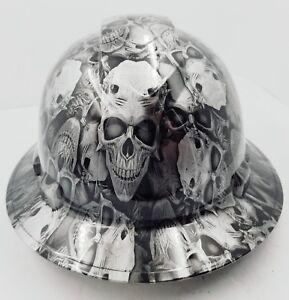 FULL-BRIM-Hard-Hat-custom-hydro-dipped-NEW-DEMONIC-SKULLS-KILLER-NEW