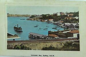 LAVENDER-BAY-SYDNEY-RARE-1910-POSTCARD-NEW-SOUTH-WALES