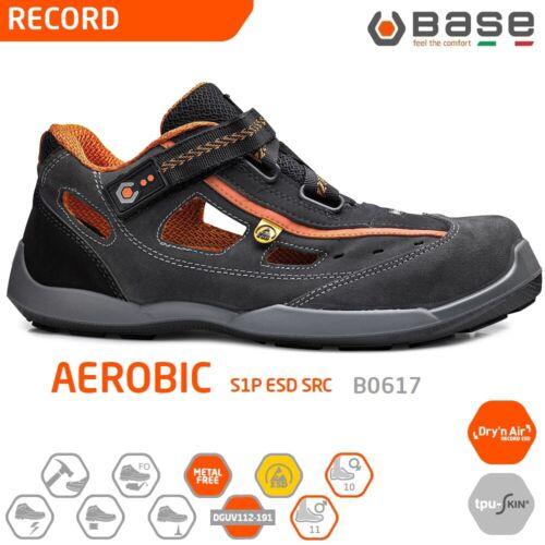 BASE RECORD SCARPE DA LAVORO ANTINFORTUNISTICA AEROBIC S1P ESD SRC sandalo B0617
