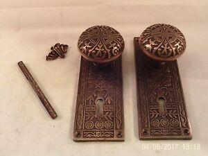 Merveilleux Image Is Loading Antique Brass Door Knob Set For Mortise Lock