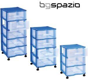 Cassettiere In Plastica Per Ufficio.Dettagli Su Cassettiera Ufficio Carrello Parrucchiere Di Plastica 2 3 4 5 Con Ruote