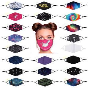 Gesichtsmasken Mund-Nasenmaske waschbar Ohrschlaufen verstellbar Fach für Filter