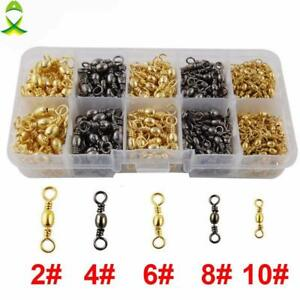 Fishing-Barrel-Swivel-Brass-With-Nickle-Coated-Swivels-Connector-Set-With-Box