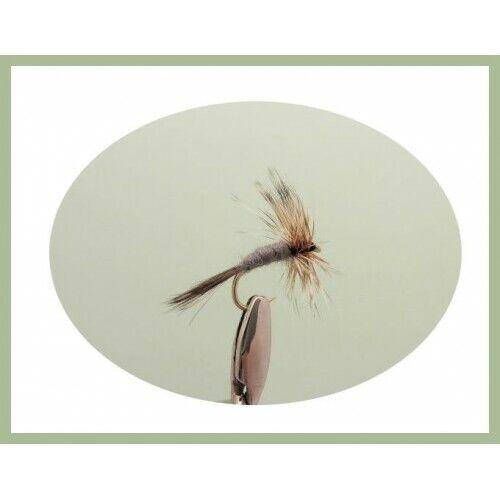 Misti 12//14//16//18 trota o Temolo Mosche Mosche Da Pesca 8 Pack Adams Dry Fly