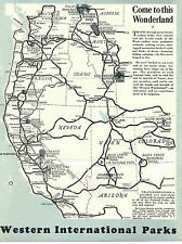 1950 VINTAGE TRAVEL BROCHURE WESTERN INTERNATIONAL PARKS BOZEMAN CHAMBER MONTANA