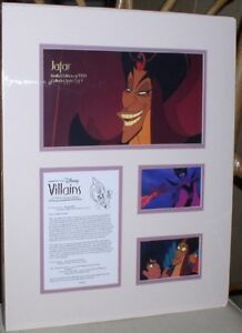 Jafar Aladdin Cast member Disney Villain Lithograph LE 1500