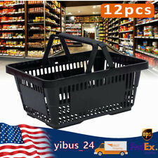 Hand Shopping Baskets 12 Pcs Retail Merchandise Grocery Store Tote Bag 480x330mm