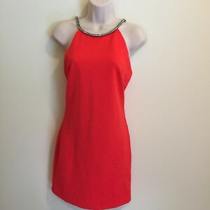 Speechless-Womens-Juniors-Bodycon-Sleeveless-Dress-Size-5-Red-Stretch-New