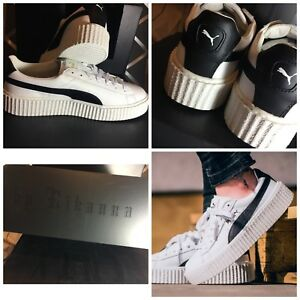 Details about NIB PUMA Fenty CREEPER WHITE LEATHER Rihanna FENTY Famous men's Sneakers LEATHER