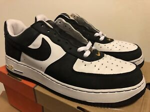 Details about Nike Air Force 1 JD Sports White Black Sport Gold 2004 Sz 12 DEAD STOCK
