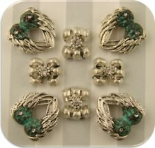 2 Hole Beads Angel Wings Spacers Clear Swarovski Crystal Elements Verdigris QTY8