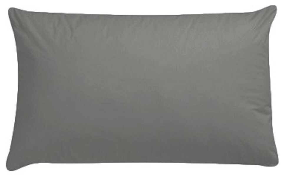 Extra Large Luxury Grey Pair Pillowcase, 22 inch x 31 inch, To Fit Large Pillow