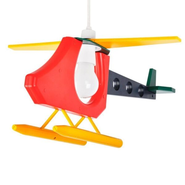 Childrens Light Shades Ceiling: Children's Bedroom 3d Helicopter Ceiling Cot Mobile Lamp