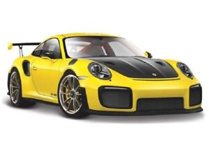 Maisto-1-24-2018-Porsche-911-GT2-RS-Diecast-MODEL-Racing-Car-NEW-IN-BOX-Yellow