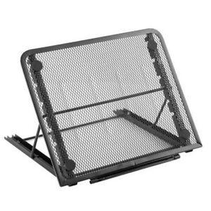 TekBox-MESH-TABLET-amp-LAPTOP-STAND-Folding-Table-Steel-Tray-Book-Holder-Riser