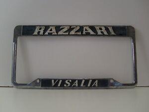 Razzari Visalia Ford Dodge Dealership License Plate Frame