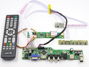 LCD LED screen Controller Driver Board Kit For LTN156AT05 TV+HDMI+VGA+USB
