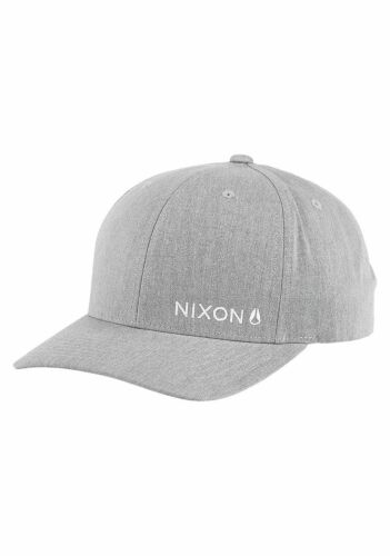 Nixon Lockup Snapback Hat Cap Heather Grey OSFA