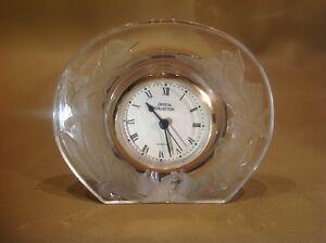 vintage timeless treasures 24 lead crystal quartz desktop clock ebay