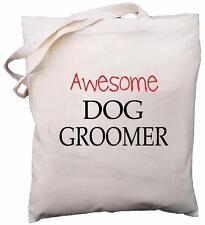 Awesome Dog Groomer - Natural Cotton Shoulder Bag - Gift