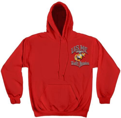 Always Faithful Erazor Bits Sweatshirt Hoodie USMC-Teufel Hunden Red
