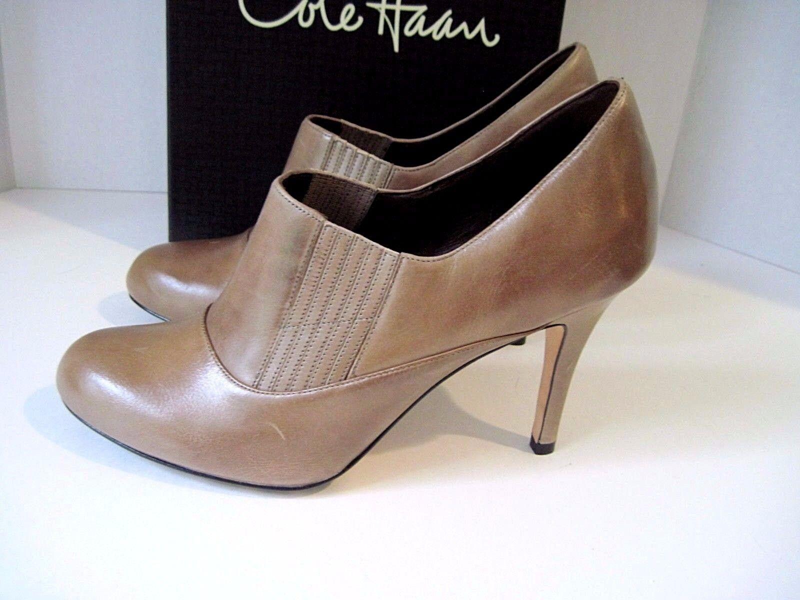 Cole Haan Talia Gore Botines Para Mujer De Cuero Marrón Marrón Marrón Zapatos De Salón Talla 10.5 B, Nuevo Caja  producto de calidad