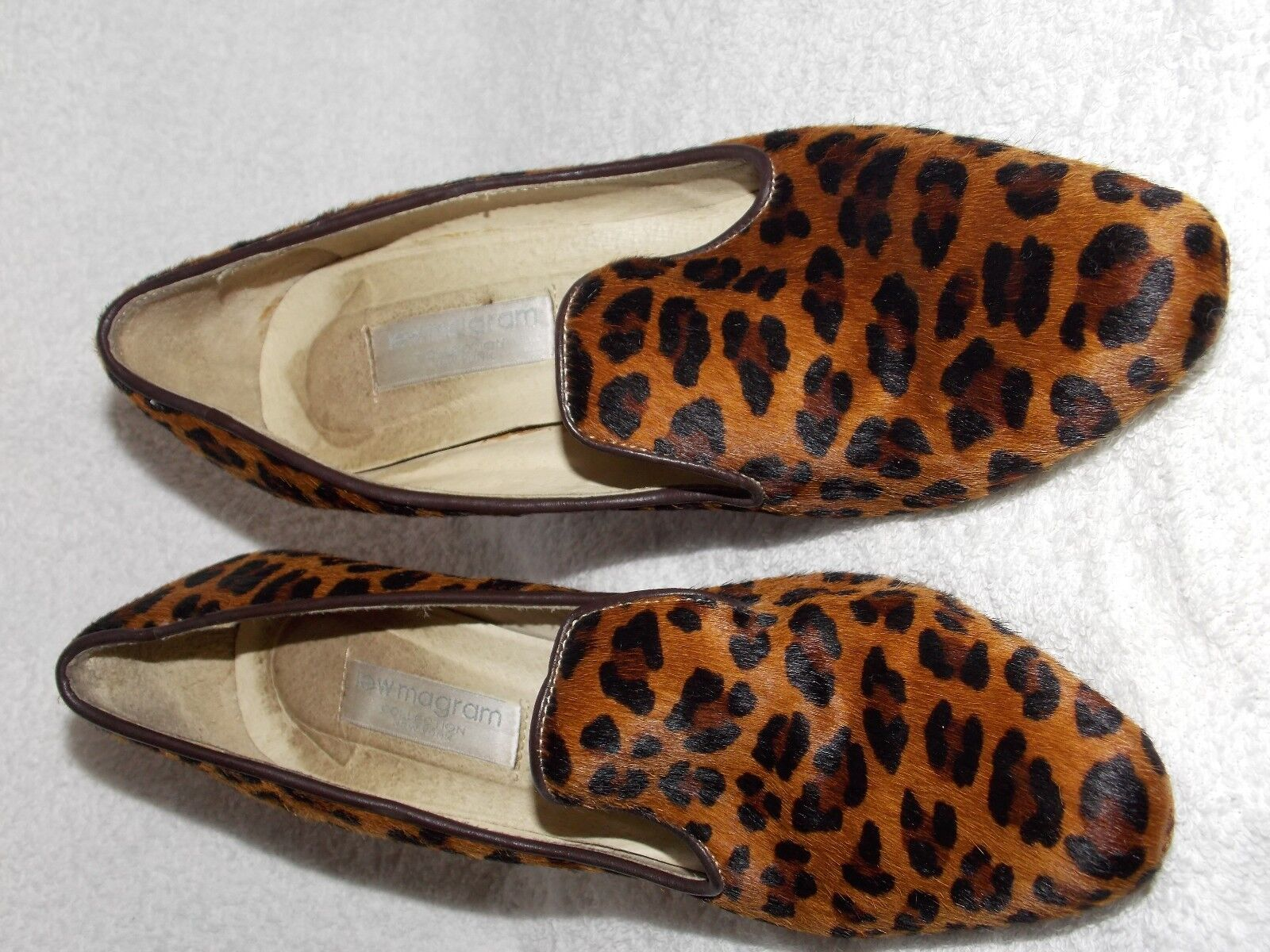 Lew Magram LEOPARD Cow Cow Cow Hair Pump Heels For Women 7.5 Used c1c0a4