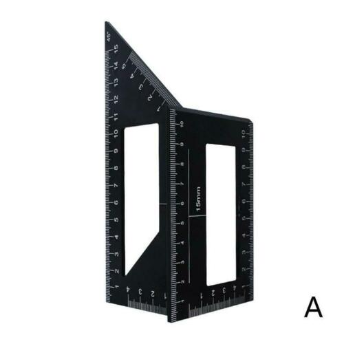 Multifunctional Square 45//90 Degree Gauge Angle Ruler Measuring Tools Charm