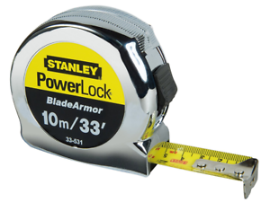 Stanley 0-33-531 Powerlock Mètre ruban rétractable Blade Armor 10 m