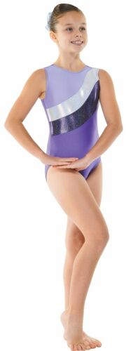 METALLIC LYCRA SHINE Ragazze ginnastica Leotard Senza Maniche Palestra Dancewear età 4-12