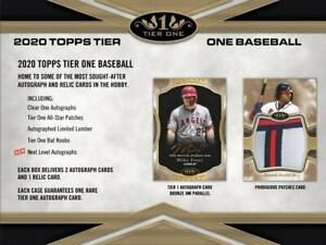 2020 Topps Tier One Baseball Hobby Box (Presell)