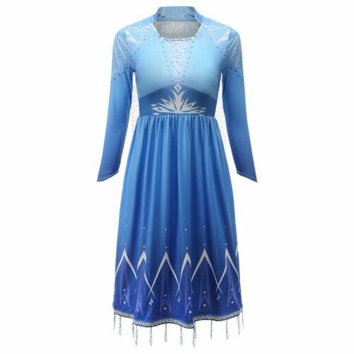 Snow Queen Elza Costum Dress Leggings Clothing Set Fancy Snow Maiden Dress Up