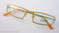 Collection Creativ ausgefallene Brillenfassung federleicht orange innen giftgrün