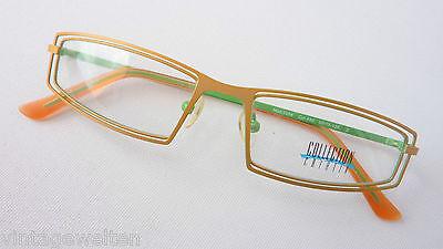 Sonnenbrillen Augenoptik Süß GehäRtet Brille Ausgefallene Brillenfassung Federleicht Orange Innen Giftgrün Size S Ruf Zuerst