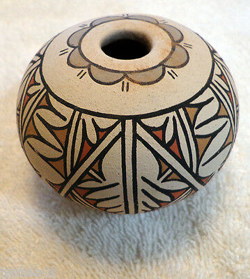 BOWL - Native American Pueblo pottery. Signed by Artist - Hand made in the USA