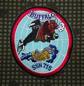 US-Navy-USS-Buffalo-SSN-715-Submarine-Embroidered-Full-Color-Patch