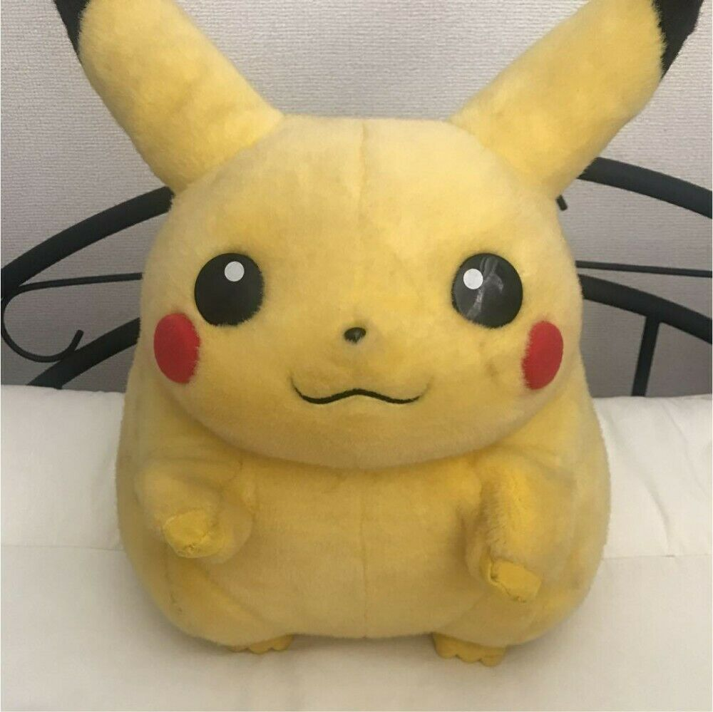Pokémon Pikachu Prima Generazione Grande Peluche Giocattolo Vintage Raro Da