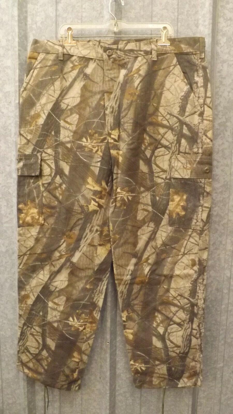 Spartan Realtree Hardwoods Camo 6 Bolsillos Cargo Pantalones de Algodón Gamuza M 32-34 EE. UU.