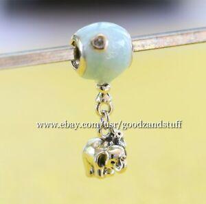 Details about Elephant and Blue Balloon Authentic Pandora Charm 797239EN169